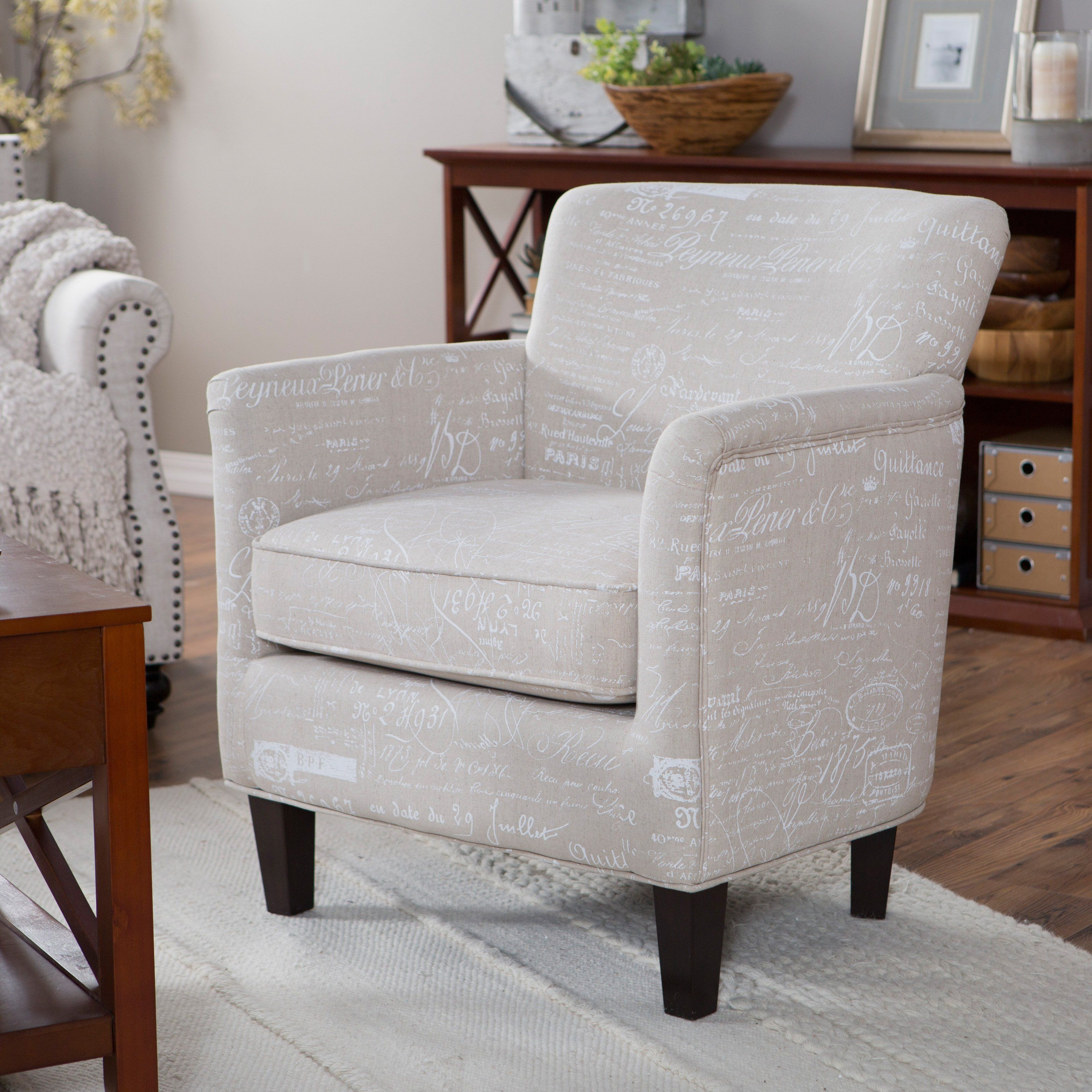 Have To Have It Belham Living Ines Script Printed Accent Chair