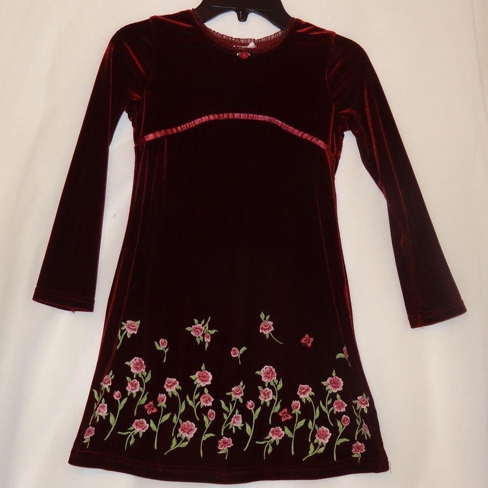 Velvet Burgundy Floral Dress Size 5t 6 Long Sleeves Girl S Ebay Burgundy Floral Dress Floral Velvet Dress Dresses [ 970 x 970 Pixel ]