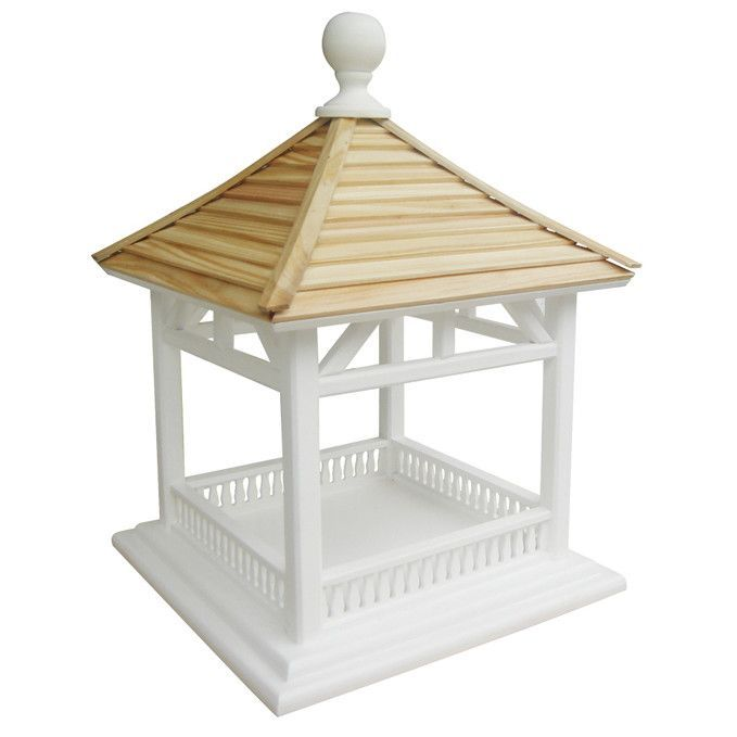 Features:  -Classic Series collection.  -Perfect for just about any setting.  -Constructed of exterior grade ply-board, and topped with a pine shingle roof.  -Victorian white color and natural.  Mount