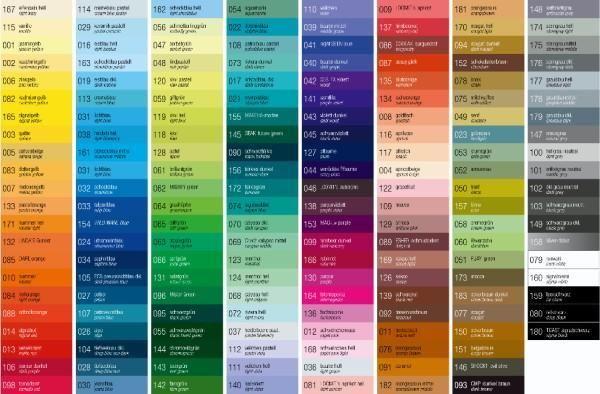National Paints Colour Chart
