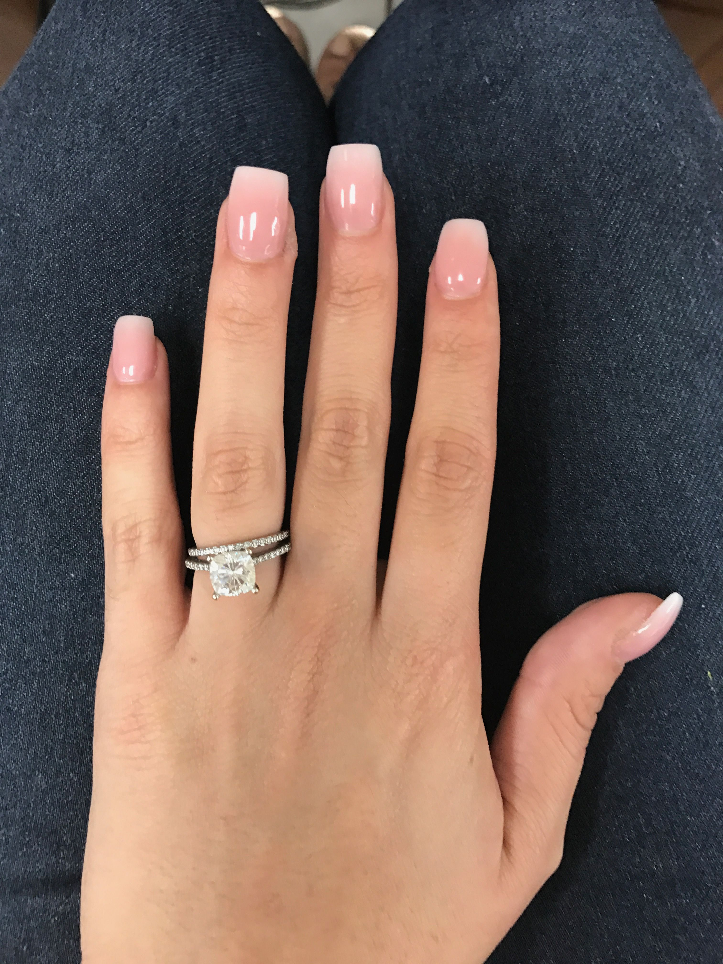 Love my new nails. Pink and white ombr powder | nails ...