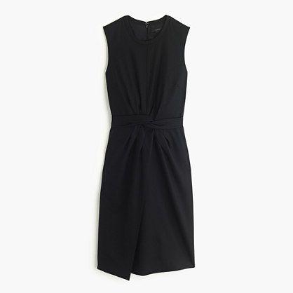 J.Crew - Knotted sheath dress in Super 120s wool