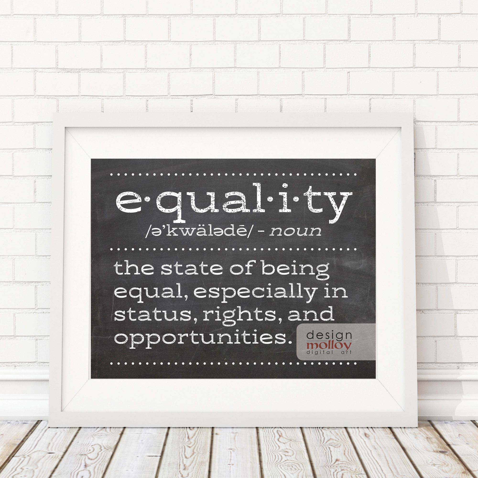 Equal Rights Human Rights Quote Protest Art Printable Etsy Human Rights Quotes Protest Art Printable Art