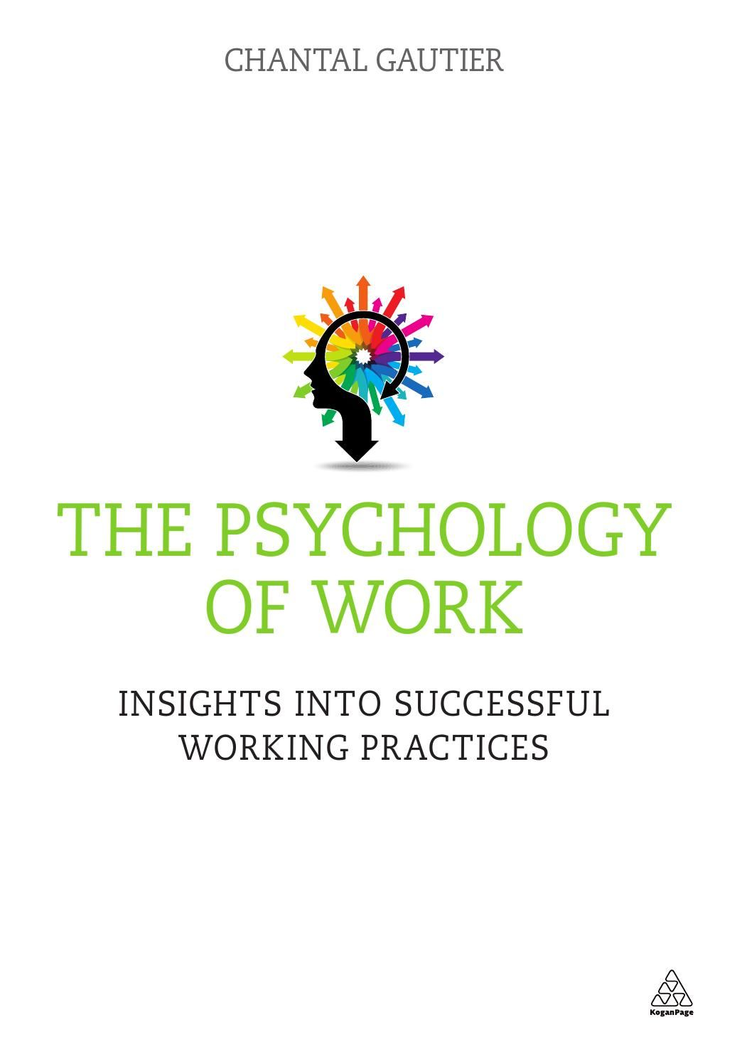 Sample The Psychology of Work Psychology, Business book