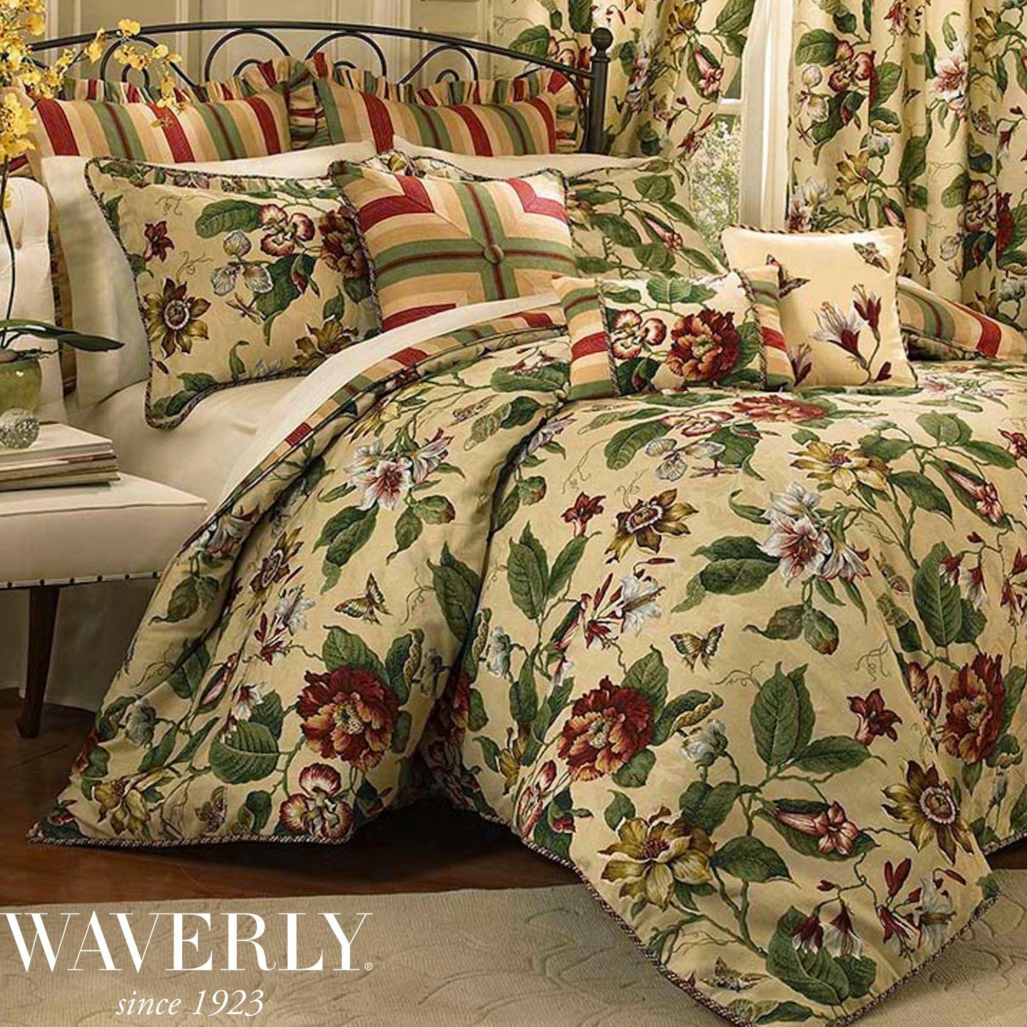 Laurel Springs Floral Comforter Bedding By Waverly With Images Comforter Sets Waverly Bedding Comforters