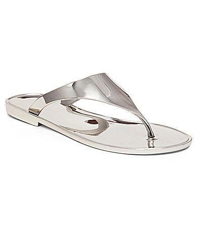 BCBGeneration Starr Metallic Jelly Sandals #Dillards