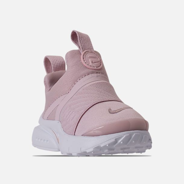 finest selection 12dbb 9093d ... spain three quarter view of girls toddler nike presto extreme running  shoes in barely rose white ...
