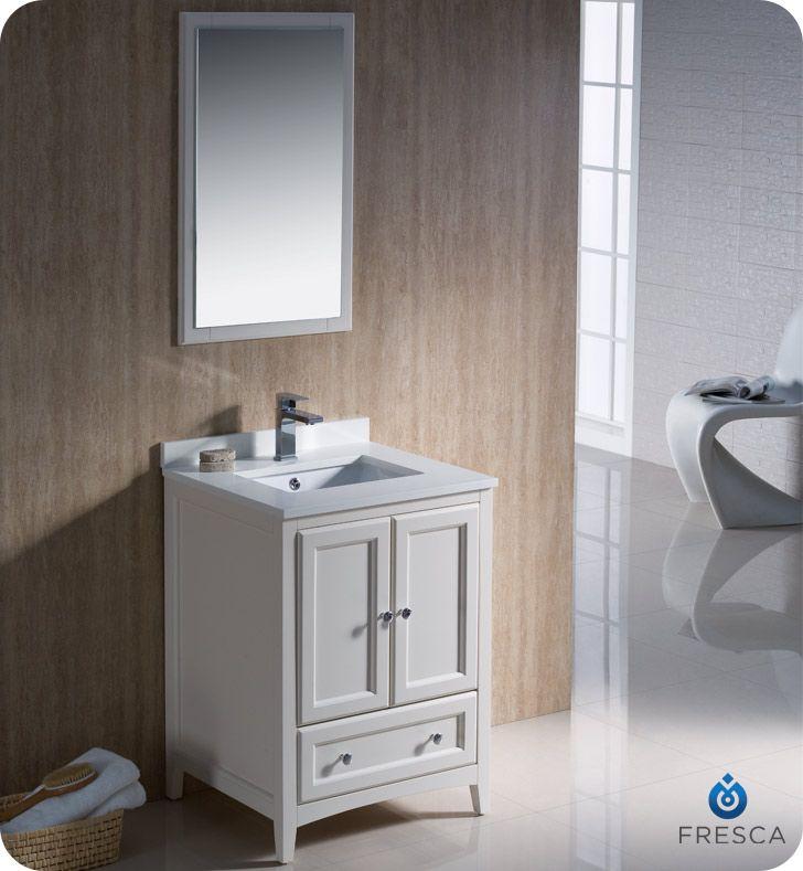 Fresca Oxford 24 Traditional Bathroom Vanity Antique