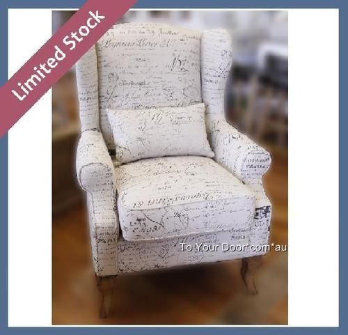 Accent Chair In Revenge: Revenge Armchair W Lumbar Cushion French Wing Back Chair