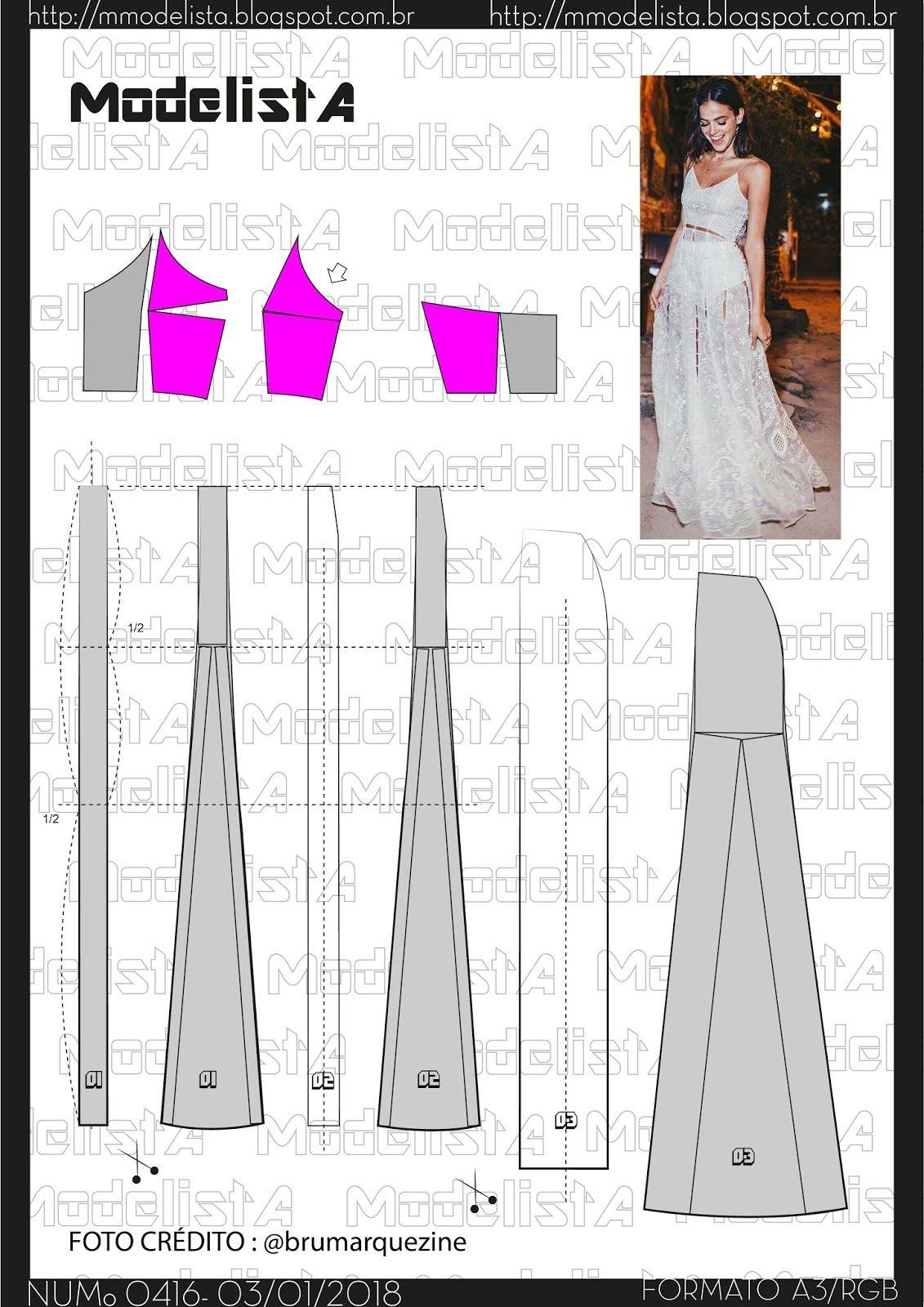 Pin de Andressa Campos en Costura | Pinterest | Patrones, Costura y ...