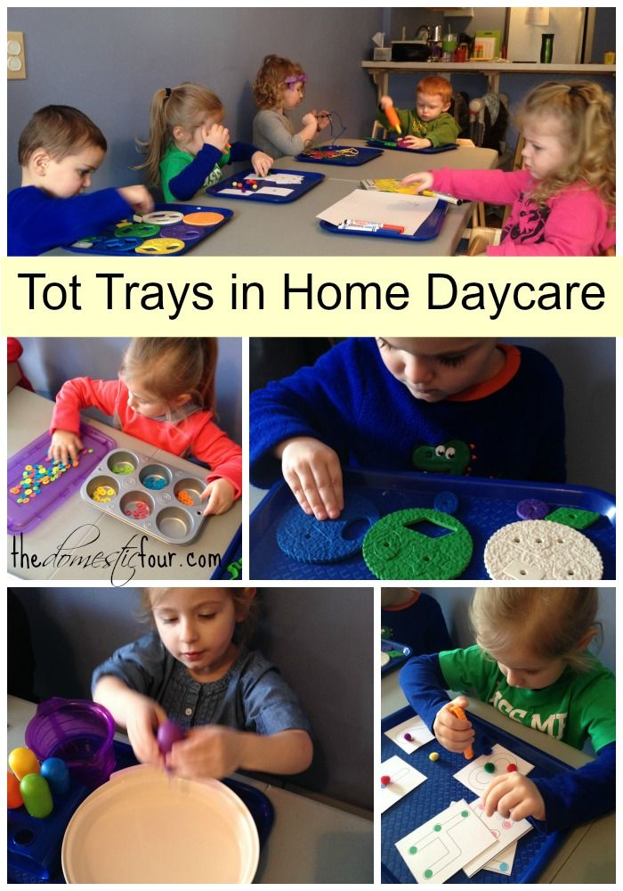 How we use Tot Trays in our home daycare.