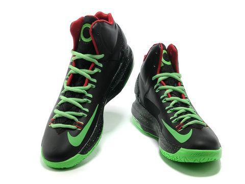 aef368e94d24 Nike Zoom KD V 5 Black Green Varsity Red