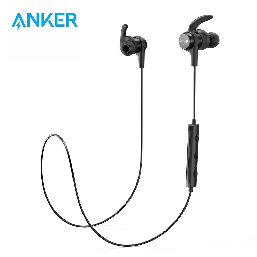 Anker Soundbuds Wireless Earphones With Bluetooth 4 1 Water Resistant Shopeenk Wireless Earphones Wireless Headphones Headphones