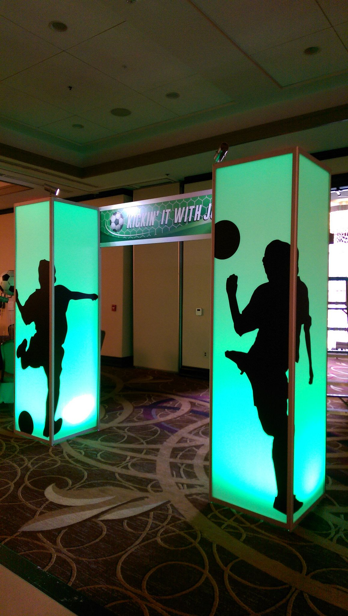 Glow Boxes With Soccer Silhouette Party Entrance Soccer Silhouette Event Entrance Party Entrance