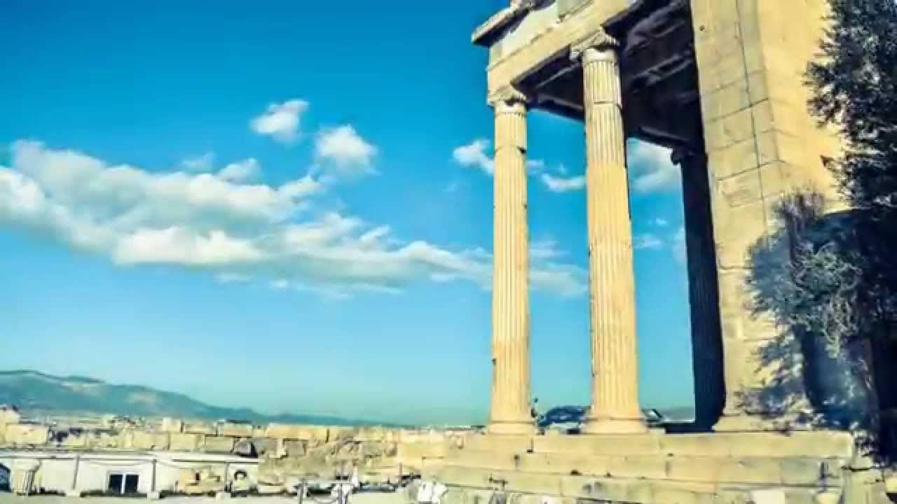 Acropolis The Ancient Citadel Greece Time Lapse 4k