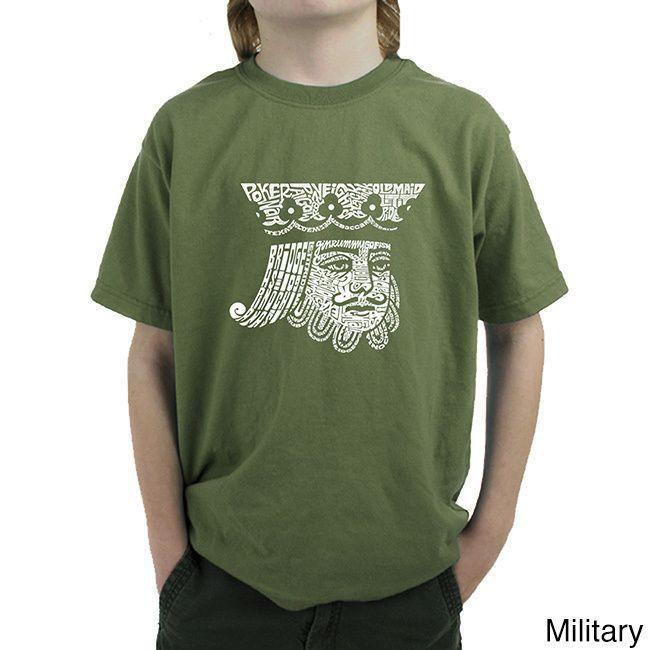 Los Angeles Pop Art Boy's King of Spades T-shirt