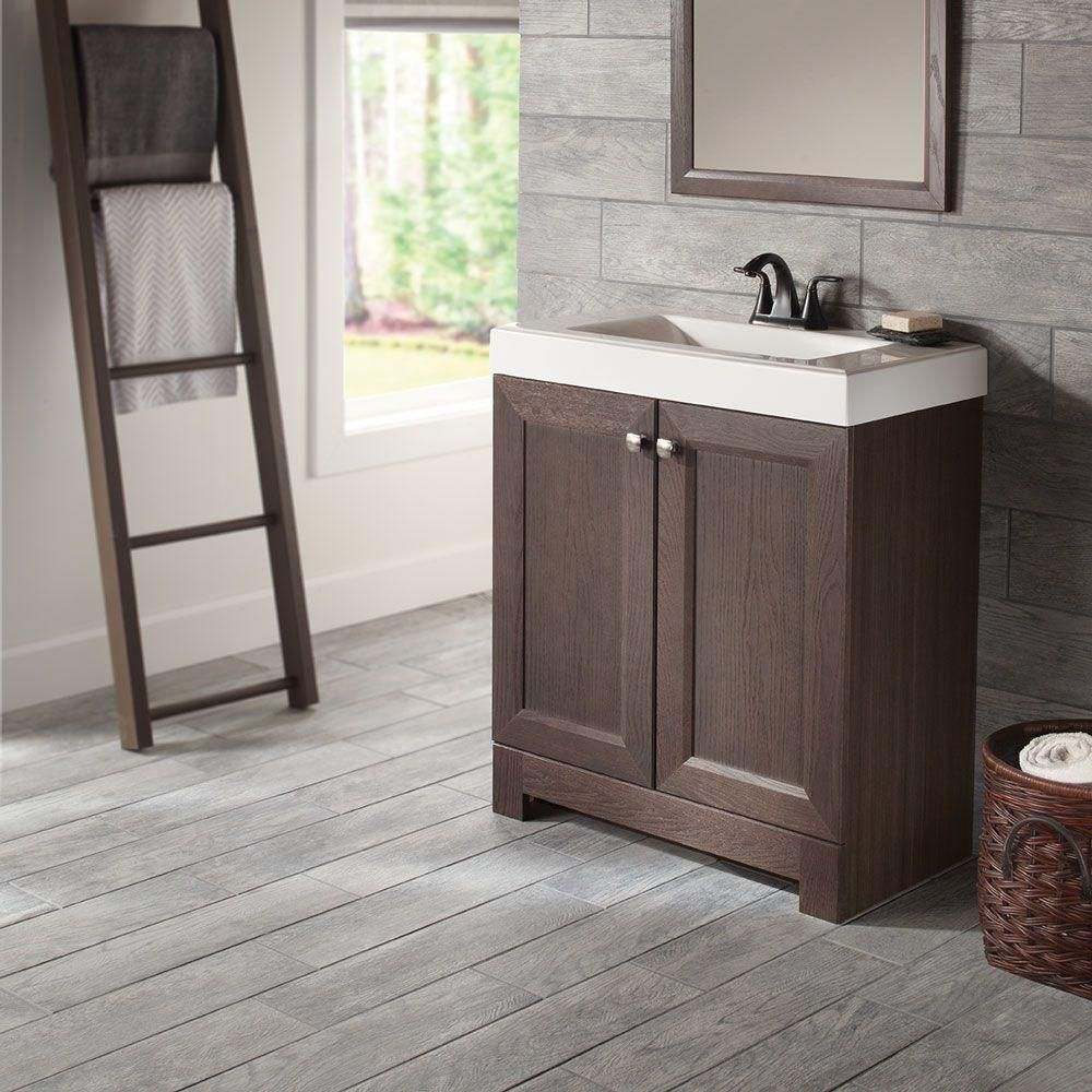 Glacier Bay Del Mar 31 In W X 36 In H X 19 In D Bathroom Vanity In Espresso With Cultured Marbl In 2020 Home Depot Bathroom Vanity Vanity Combos Home Depot Bathroom