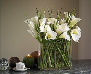 Dining Table Arrangement Bloom Co Uk Flower Table Decorations Flower Decorations Calla Lily Wedding Centerpiece