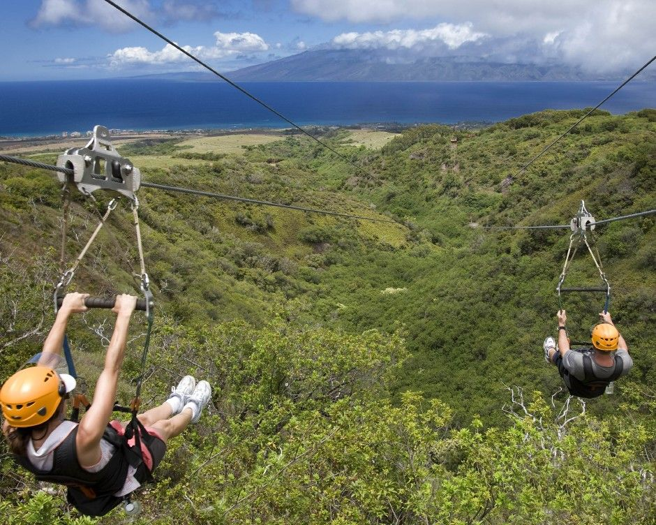 Ziplining In Hawaii I Don T Know If This Is The Same Spot But This Is Going Down Maui Travel Hawaii Magazine Maui Vacation