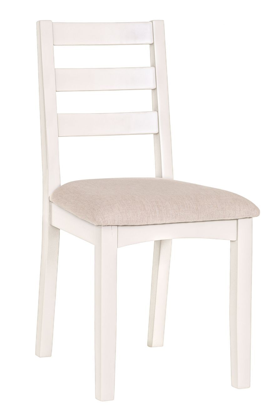 f4feae509d14 Malvern Shaker Ivory Painted Oak Dining Chair #chilternoak this modern  dining chair features a traditional slat back design and has a linen  coloured seat ...