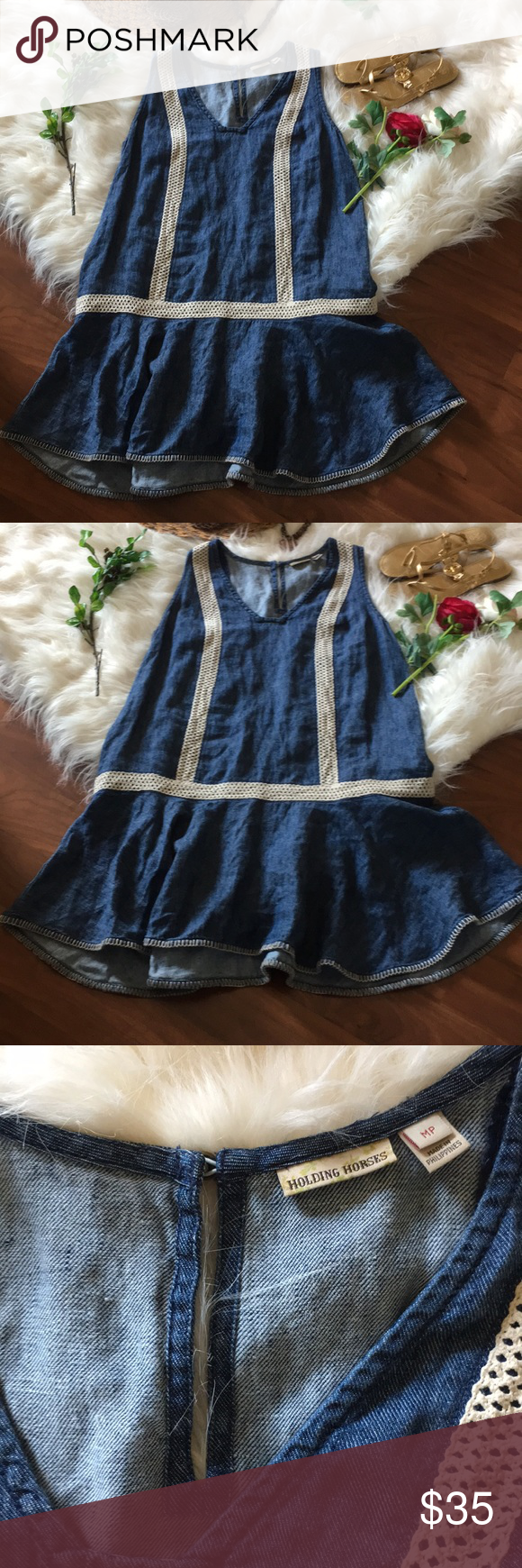 5191d79df0f Anthropologie Dress❤pb ❤In great used condition Anthropologie cute dress by  Holding Horses in size Medium Petite❤ Anthropologie Dresses
