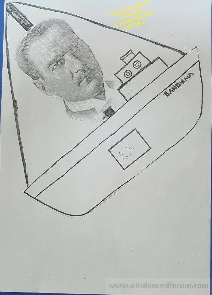 19 Mayis Ataturk Bandirma Boyama Sayfasi Etkinlik Ornegi 9 Jpg