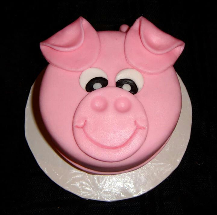 Pig cake So cute Pigs Pinterest Cake Animal birthday