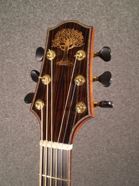 Tree Headstock Inlay From Burton Legeyt Guitars Guitar Design Acoustic Guitar Guitar