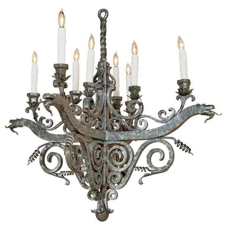 Vintage french medieval wrought iron chandelier this little light vintage french medieval wrought iron chandelier this little light of mine pinterest wrought iron chandeliers iron chandeliers and wrought iron aloadofball Choice Image