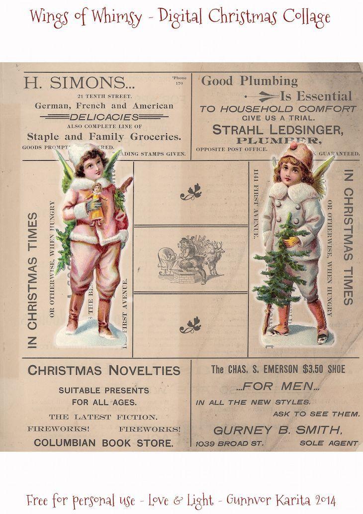 decoupage cards,Christmas clipart