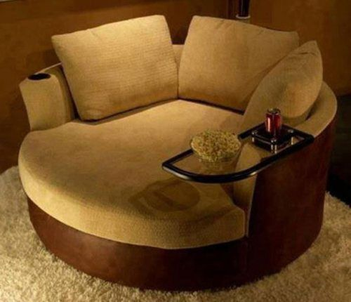 Round Chair With Cup Holder