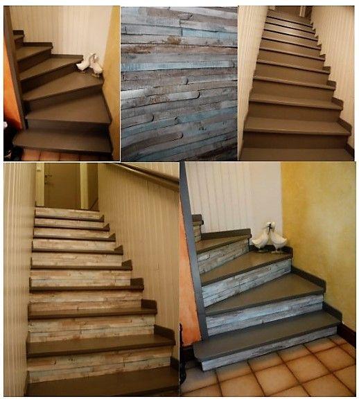 escalier au départ bois exotique couleur acajou foncé vitrifié et
