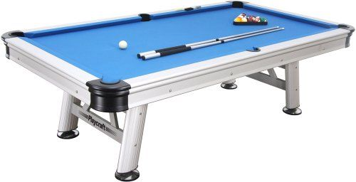 Playcraft Extera Outdoor Pool Table With Playing Equipment Silver - Pool table price amazon