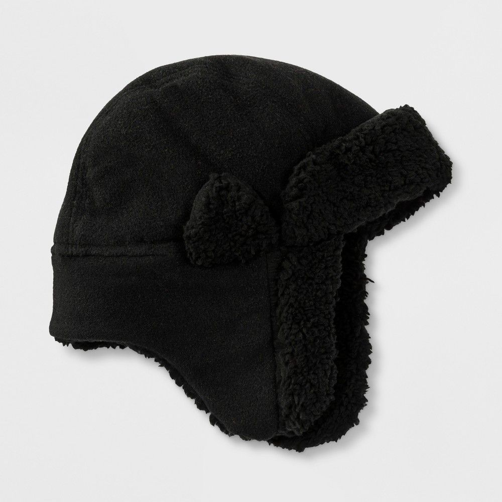 98ef46792 Boys' Fleece Trapper Hat - Cat & Jack™ Black 4-7 | sewing | Trapper ...