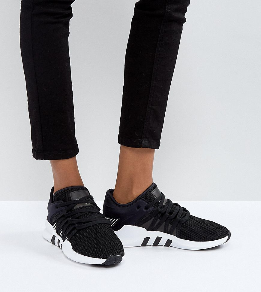 d1224ee48 ADIDAS ORIGINALS ADIDAS ORIGINALS EQT RACING ADV SNEAKERS IN BLACK AND  WHITE - BLACK. #adidasoriginals #shoes #
