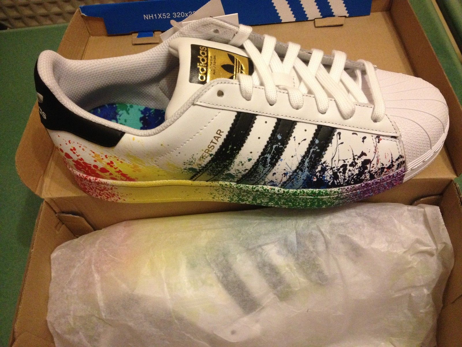 Adidas Originals Superstar Pride Pack Shoes D70351 Lgbt Rainbow Paint  supplied by http://