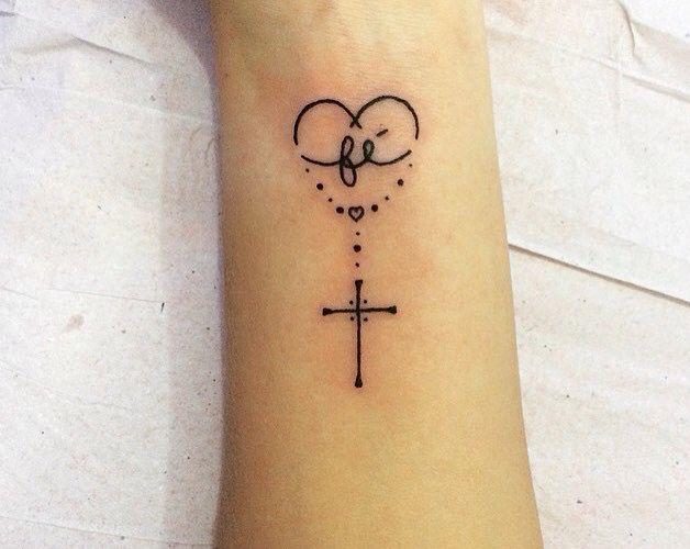 Fe Cruz Tatuajes Catolicos Tatuajes Religiosos Tatuajes Sutiles