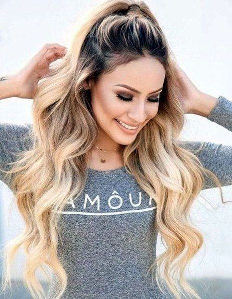 Quick And Easy Half Up High Ponytail Hairstyle Hack Long Hair Styles Thick Hair Styles Hair Styles