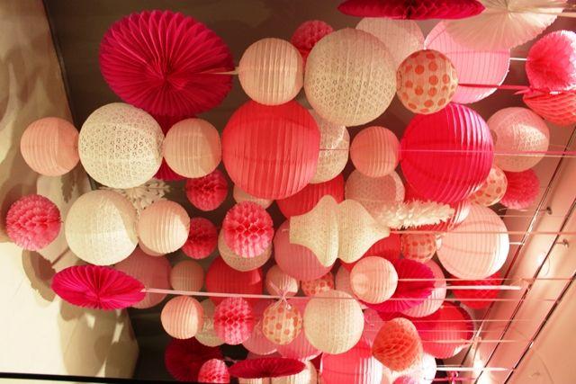 Paper Lantern Variety Pink Lanterns Window Display Display