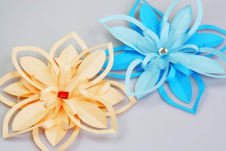 Blumen aus Papier basteln - Lilie Bastelfrau quilling - blumen basteln