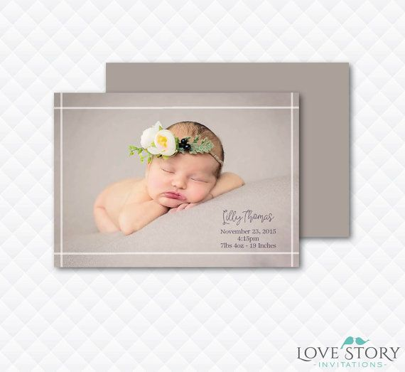 Print Your Own Birth Announcements