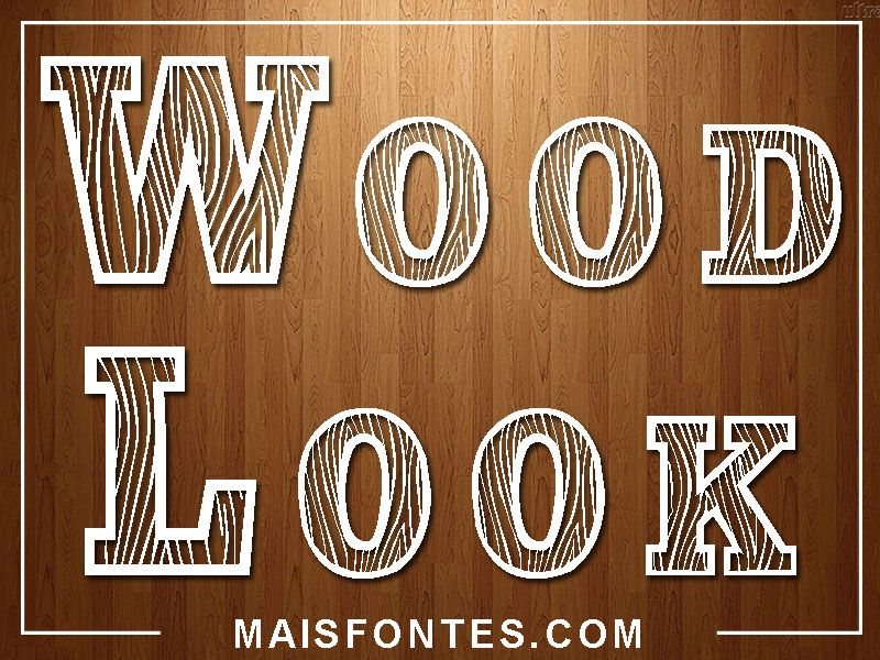 Font Wood Look // Free Download