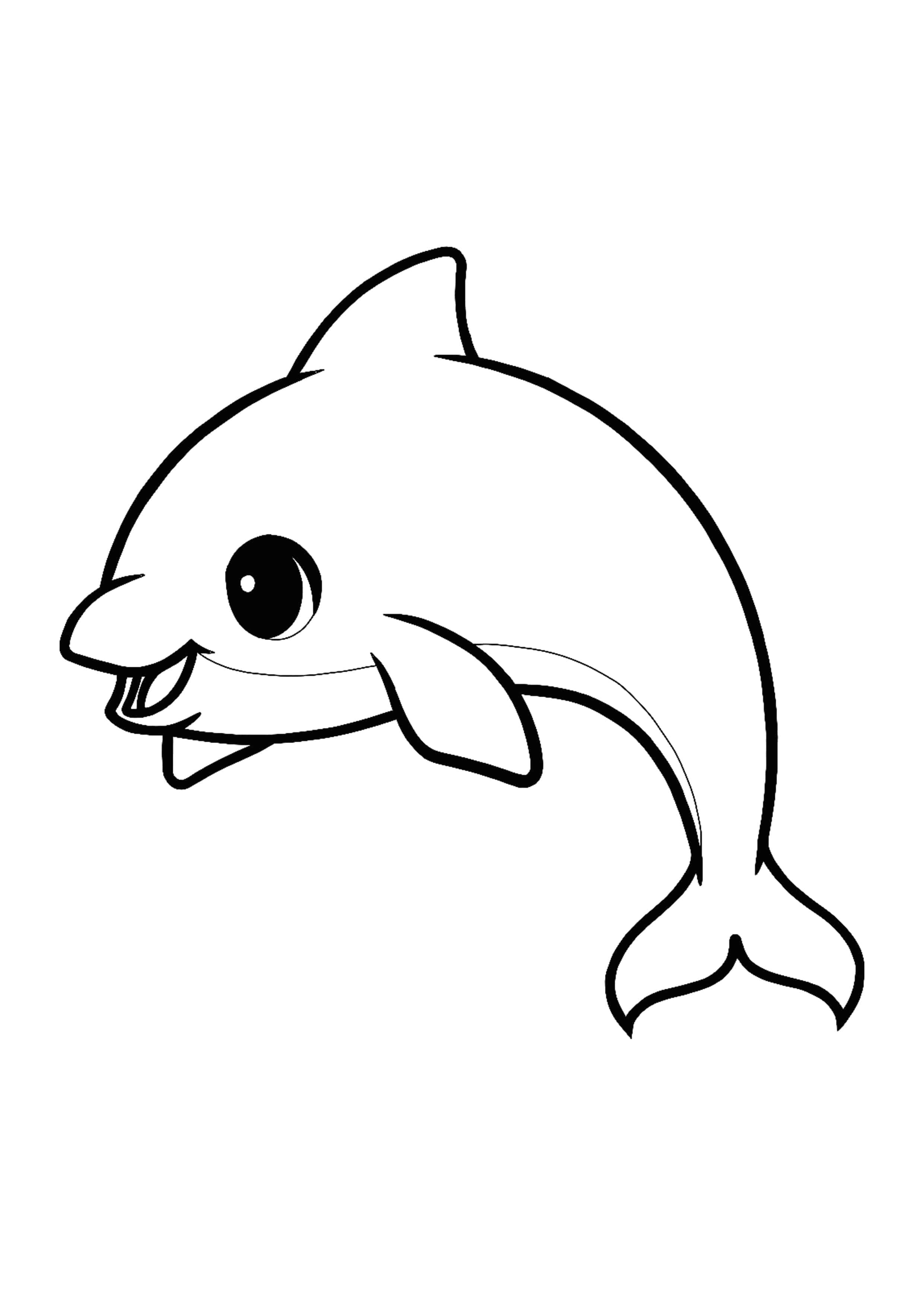 Kawaii Dolphin Coloring Page Dolphin Coloring Pages Manga Coloring Book Dolphin Coloring Page