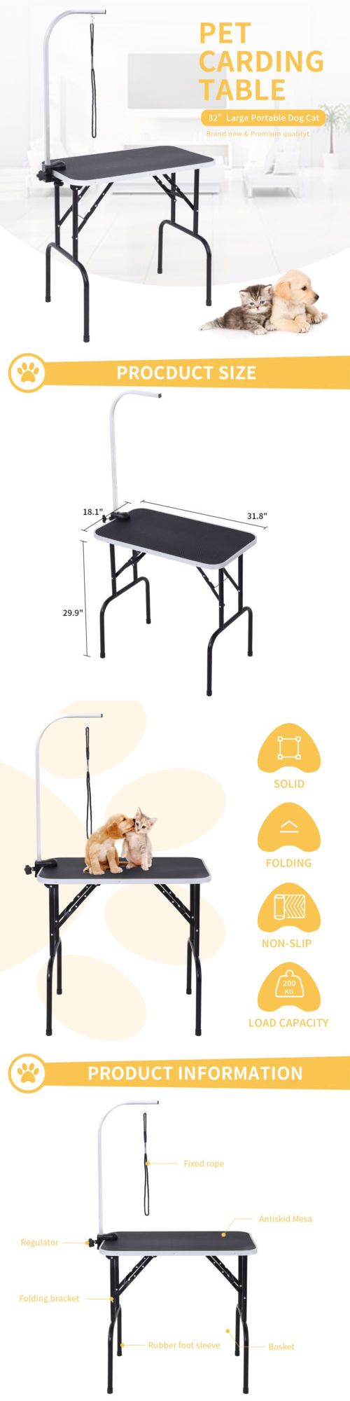 Grooming Tables 146241 32 Heavy Duty Portable Grooming Table Dog Cat Pet W Adjustable Armandnoose Large Buy It Now Only 47 9 On Eb Pets Cats Dog Cat Pets