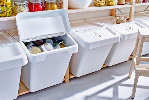 Ikea Bolsas Y Cubos Almacenamiento De Despensa Cubo De Basura Recipientes De Almacenamiento
