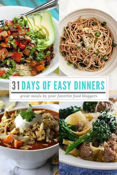 If meal planning is a chore for you, you're going to love this great collection of 31 simple, delicious dinner recipes.