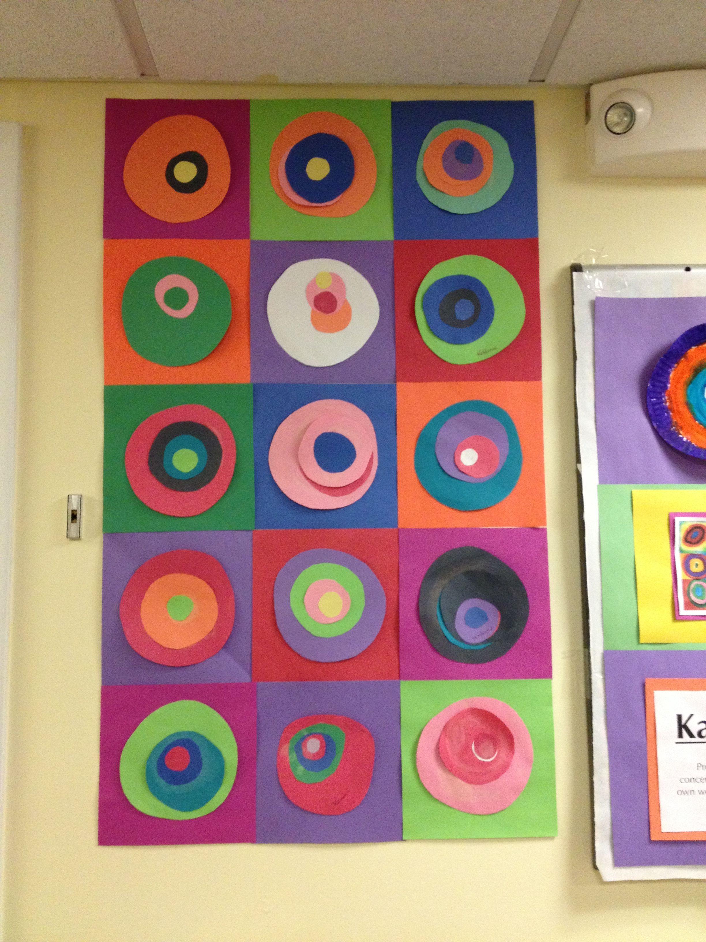Preschool Artist Week Kandinsky Circles Elementary Art Kindergarten Art Art Lessons