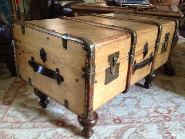 antique trunk coffee table   maletas y baúles   Pinterest   Baúl ...