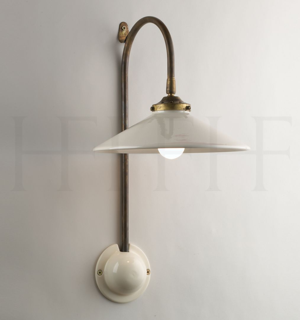 This Wall Mount Light Fixture! French Ceramic Wall Light By Hector Finch