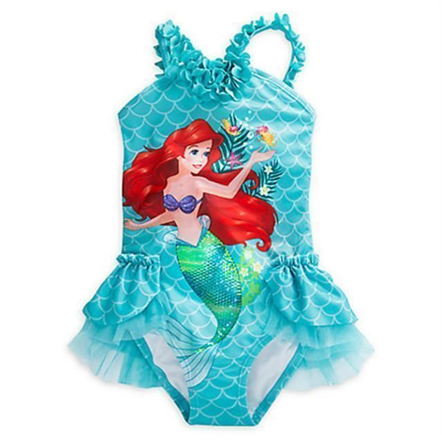 bca7e1b0f2285 Disney Store Ariel Deluxe Swimsuit for Girls Size:5-6 #Disney #Swimsuit